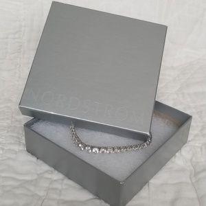 Sterling silver faux diamond tennis bracelet